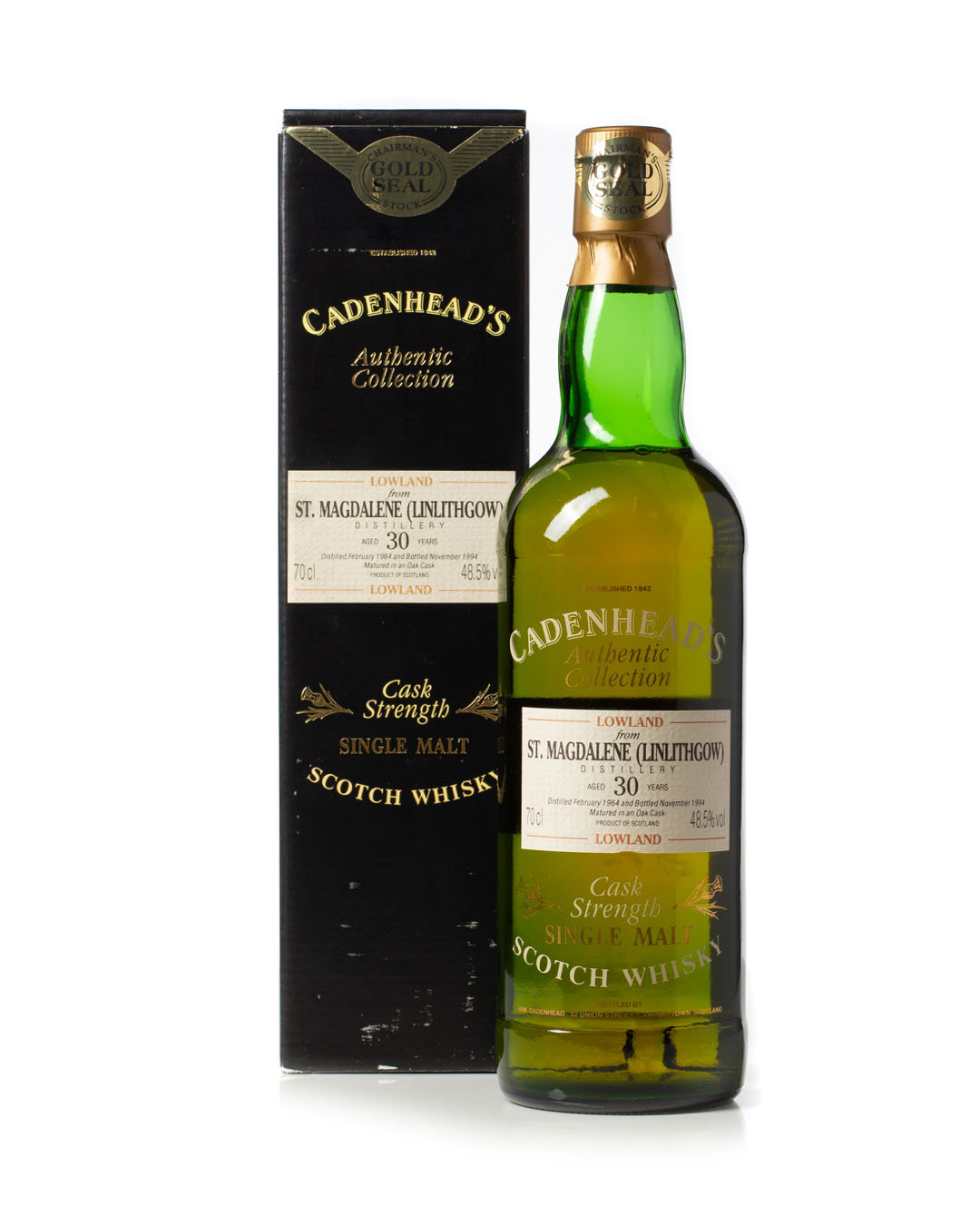 St Magdelene (Linlithgow) 1964 30 year old Cadenhead's Authentic Collection with Box for sale