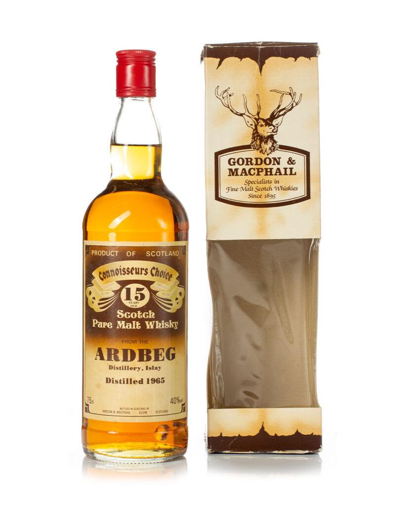 Buy Ardbeg 1965 15 year old Connoisseurs Choice Brown Gordon & Macphail bottle and box