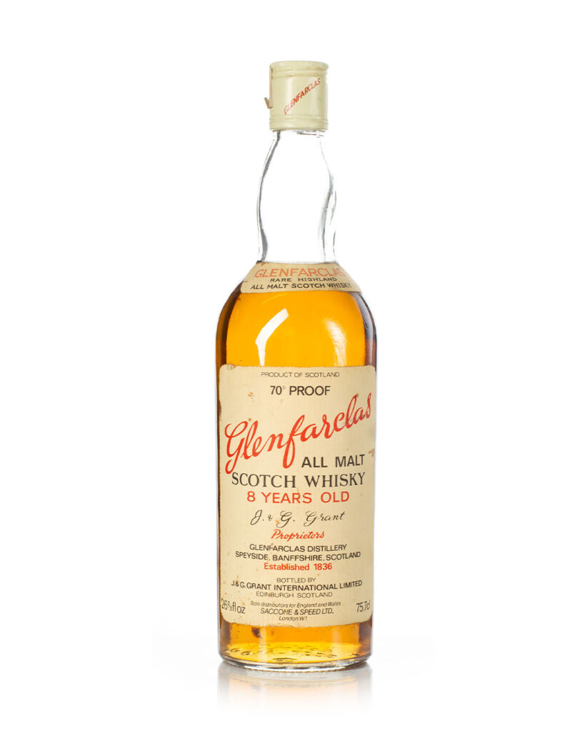 Glenfarclas 8 year old 1970s 70 proof