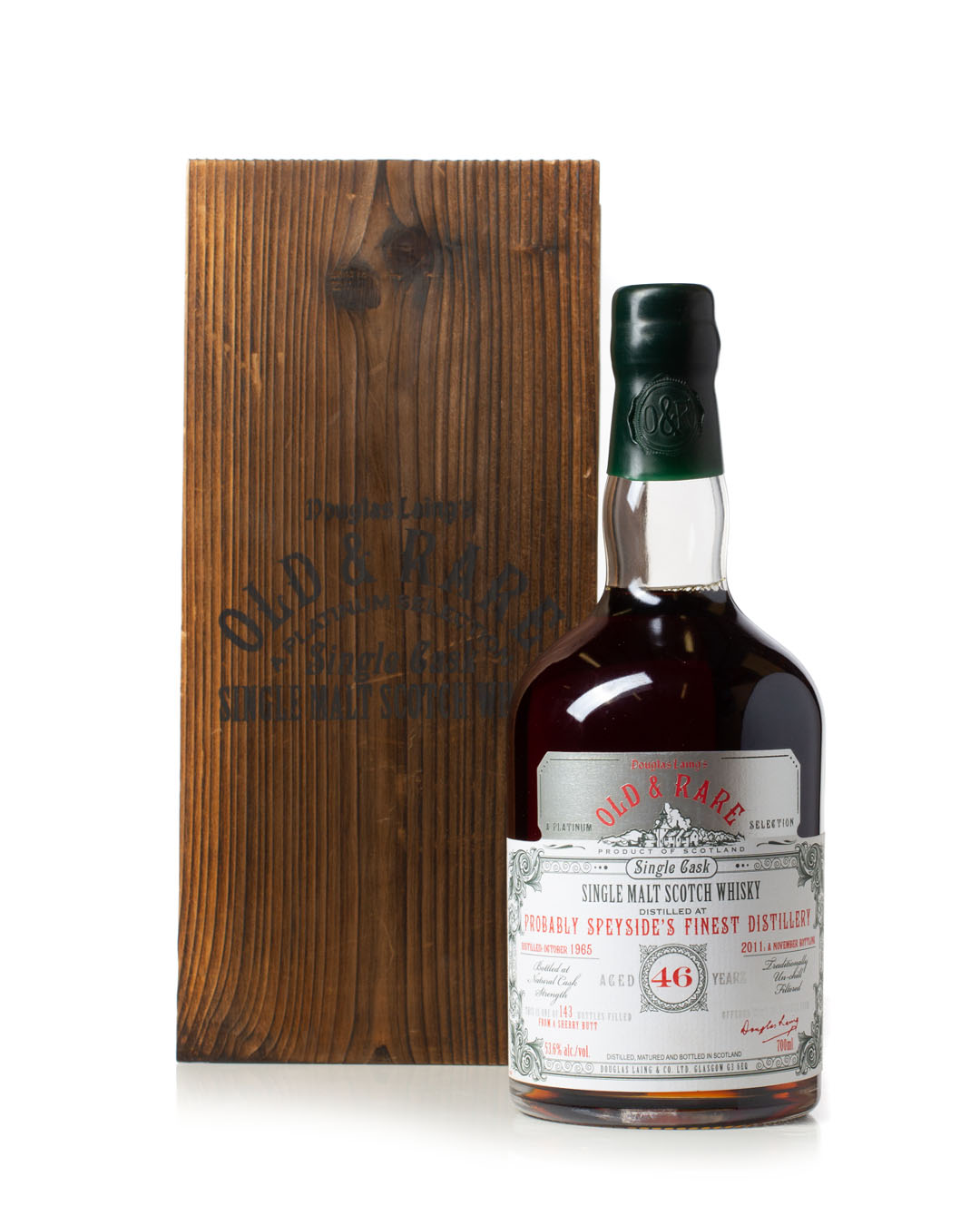 Buy Probably Speyside's Finest Distillery 1965 46 Year Old Old & Rare Platinum Selection