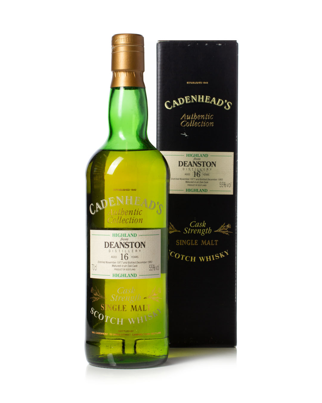 Buy Deanston 1977 16 Year Old Cadenhead's Authentic Collection whisky online