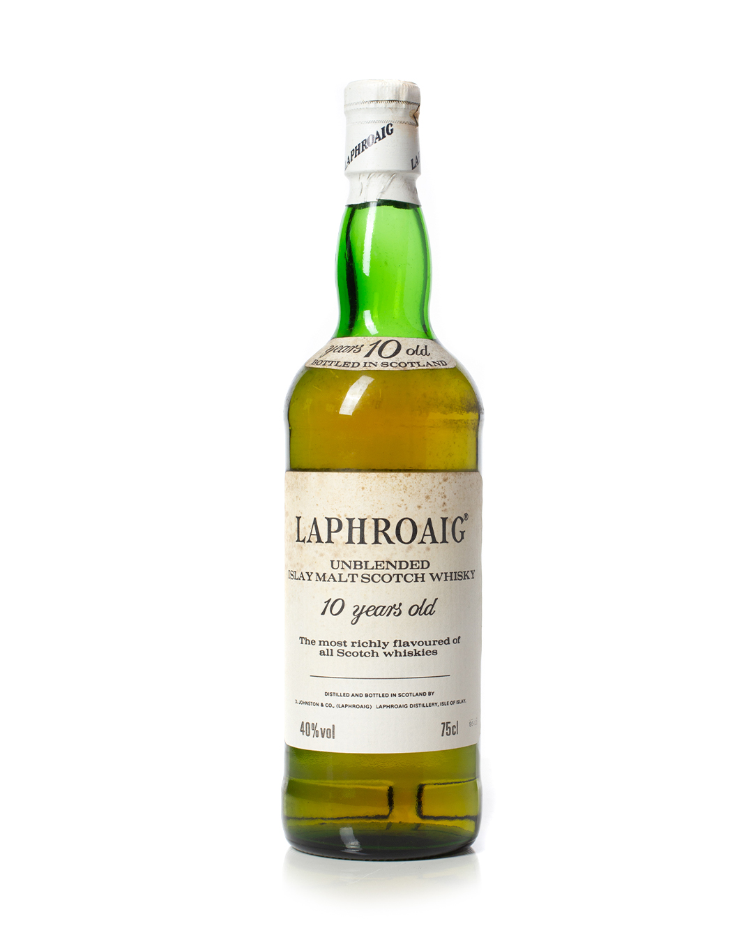 Buy Laphroaig 10 year old 1980s with tube